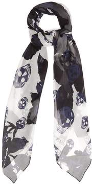 Alexander McQueen Rose-print silk scarf