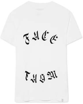 Facetasm Printed Cotton-jersey T-shirt - White