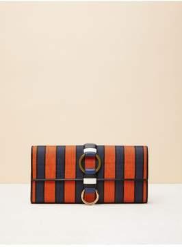 Diane von Furstenberg | O-Ring Clutch | Midnight/ orange/ black