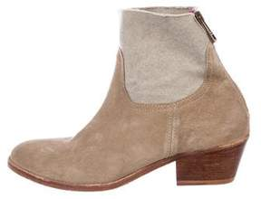 Zadig & Voltaire Suede Round-Toe Ankle Boots