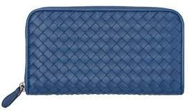 Bottega Veneta Women's Blue Leather Wallet.