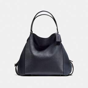 COACH COACH EDIE SHOULDER BAG 42 - MIDNIGHT NAVY/DARK GUNMETAL