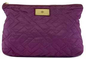 Tory Burch Purple Quilted Large Pouch - PURPLE - STYLE