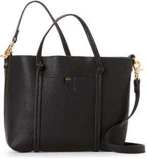 Foley + Corinna Black Faux Leather Satchel