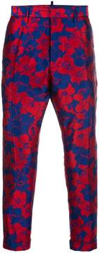 DSQUARED2 floral jacquard trousers