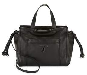 Marc Jacobs Tied Leather Satchel - MUSHROOM - STYLE