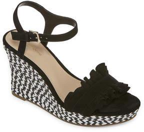 Liz Claiborne Munster Womens Wedge Sandals