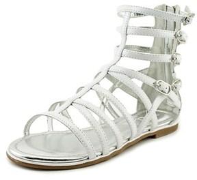 Nina Octavia Youth Open Toe Patent Leather White Gladiator Sandal.