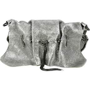 Roberto Cavalli Silver Leather Handbag