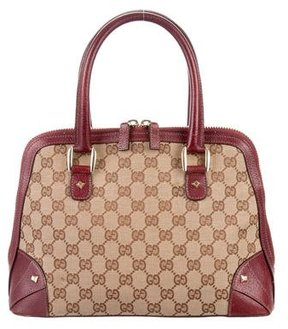 Gucci Small GG Nailhead Bowler Bag - BROWN - STYLE
