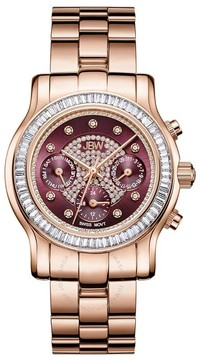 JBW Laurel Diamond Red Dial Ladies Watch