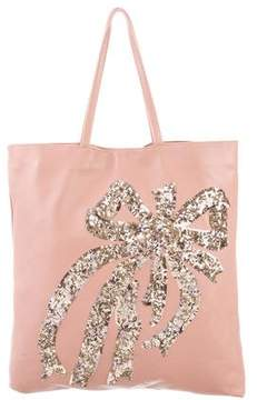 RED Valentino Sequin-Accented Leather Tote