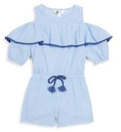 Petit Lem Little Girl's Striped Cotton Shortall