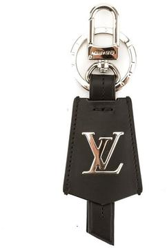 Louis Vuitton Black Leather Cloche Cles Key Holder - BLACK - STYLE