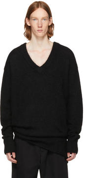 Hope Black Oversized Layered Sweater