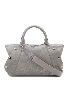 Akris Aimee Small Convertible Washed Calf Leather Satchel Bag