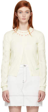 Carven Off-White Embroidered Cardigan