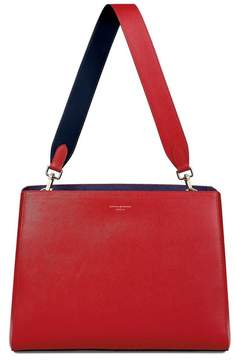 Aspinal of London Large Ella Hobo In Scarlet Saffiano With Scarlet Navy Strap