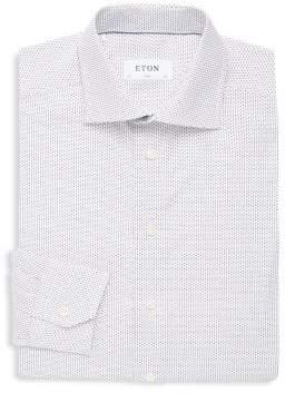 Eton Dotted Cotton Button-Down Shirt