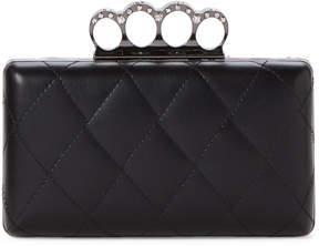 La Regale Black Quilted Convertible Clutch