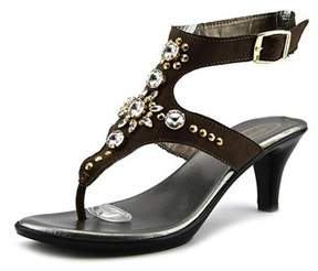 Callisto Womens Cherry Leather Open Toe Casual Ankle Strap Sandals.