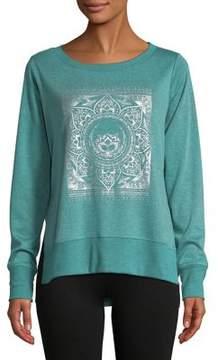 Gaiam Lyla Graphic Fleece Top