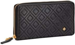 Tory Burch FLEMING ZIP CONTINENTAL WALLET - BLACK - STYLE