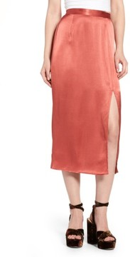 WAYF Women's Brady Satin Midi Skirt