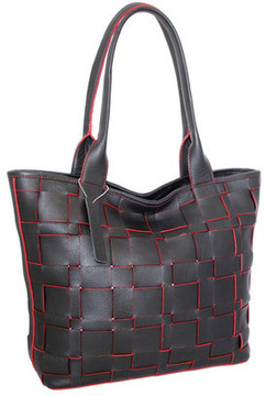 Women's Nino Bossi Tyra Woven Leather Tote