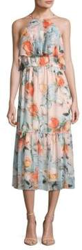 Donna Morgan Floral Halter Dress