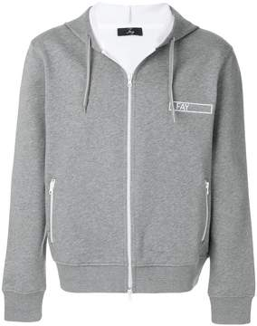 Fay logo print hoodie