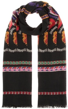 Etro Wool and silk-blend scarf