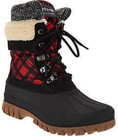 Cougar Waterproof Lace-up Boots w/Fleece Lining - Creek
