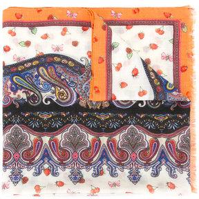 Etro mixed paisley print scarf