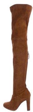 Alberta Ferretti 2015 Suede Over-The-Knee Boots