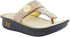 Alegria Carina Metal Ornament Thong Sandals