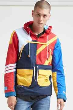 21men 21 MEN Reason Colorblock Anorak Jacket