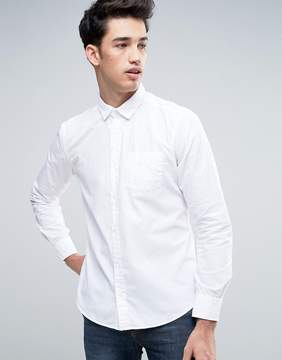 Esprit Slim Fit Button Down Shirt in White
