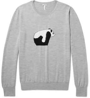 Loewe Panda Intarsia Mélange Wool Sweater