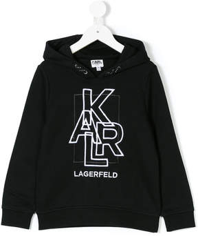 Karl Lagerfeld embroidered logo hoodie