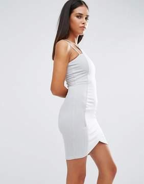 AX Paris Bodycon Mini Dress With Asymmetric Hem