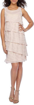 Jessica Howard Sleeveless Tiered Fit & Flare Dress