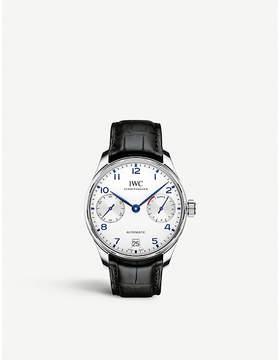 IWC IW500705 portugieser leather watch