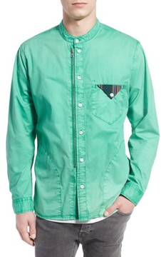 PRPS Men's 'Cotinga' Extra Trim Fit Band Collar Woven Shirt