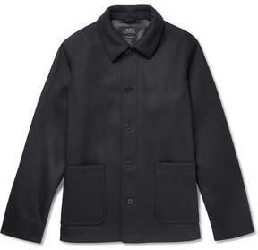 A.P.C. Auray Felted Wool-Blend Jacket