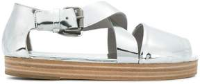 Marsèll cross-over strap flatform sandals