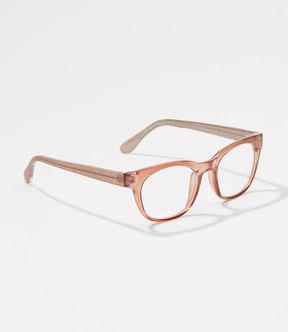 LOFT Glitter Arm Square Reading Glasses