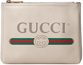 Gucci Print leather small portfolio - WHITE LEATHER - STYLE