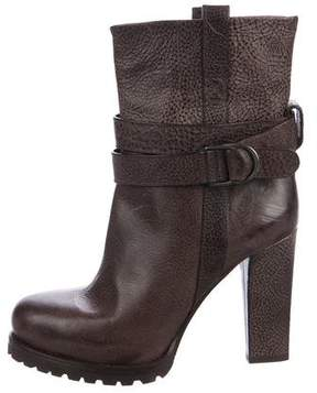 Brunello Cucinelli Leather Mid-Calf Boots