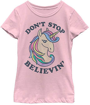 Fifth Sun Pink 'Don't Stop Believin'' Tee - Girls